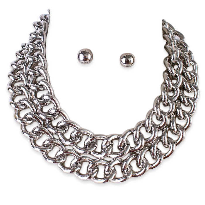 Odeletta Chain Necklace Set