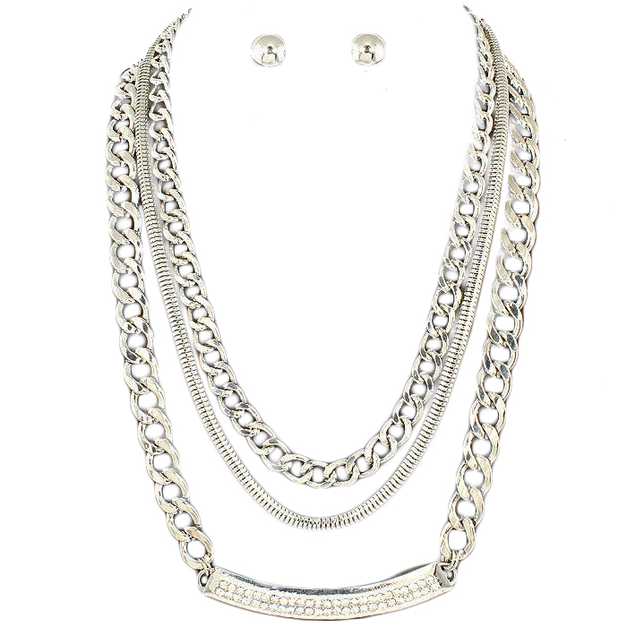 Giovana Chain Necklace Set II