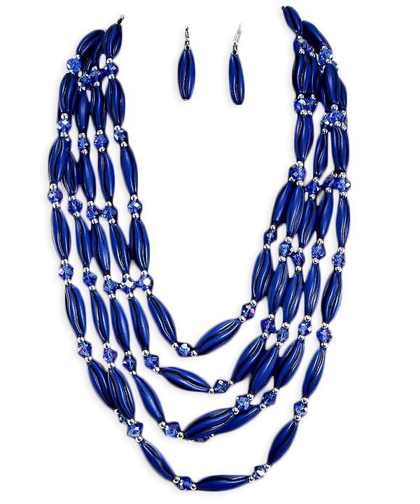 Sancia Bead Necklace Set