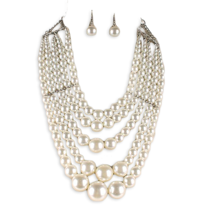 Adela Pearl Necklace Set