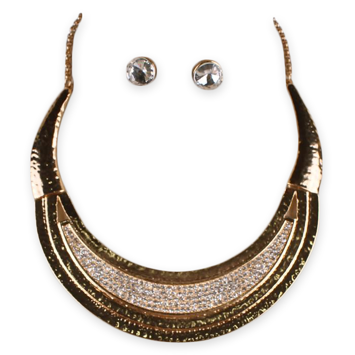 Corine Crescent Necklace Set