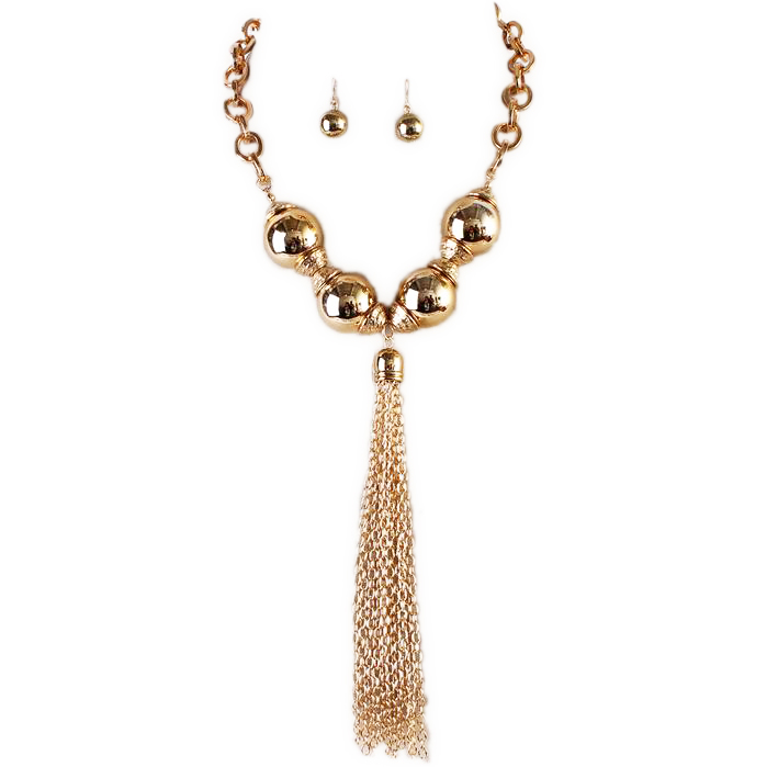 Charmine Y Chain Necklace Set