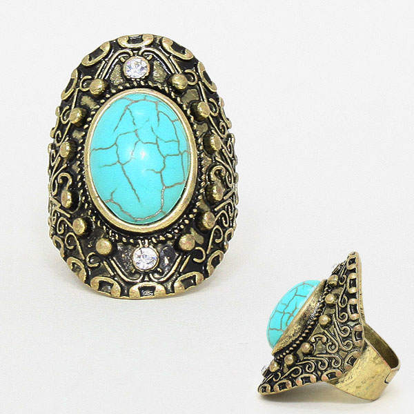 Wilma Turquoise Stone Ring
