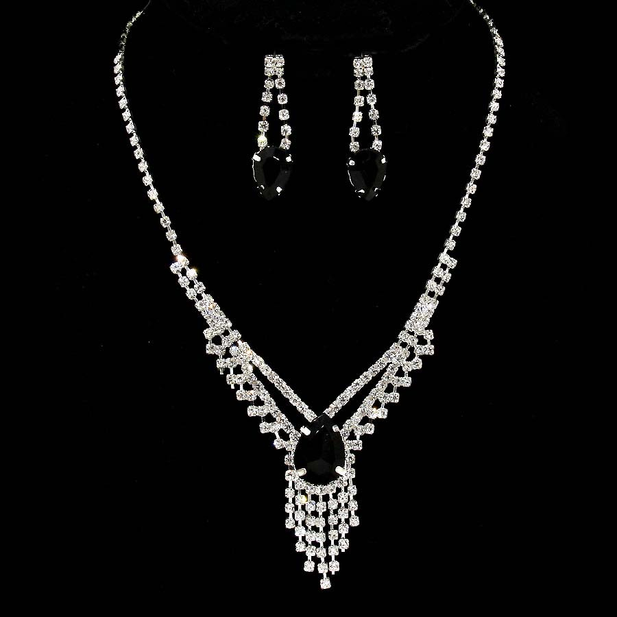 Kassia Rhinestone Necklace Set
