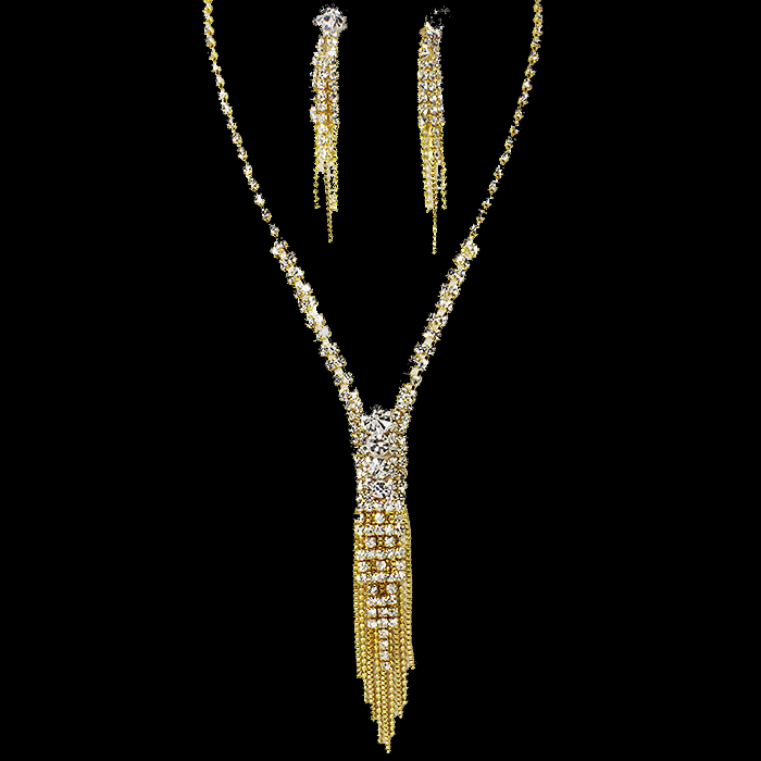 Dalia Rhinestone Necklace Set.