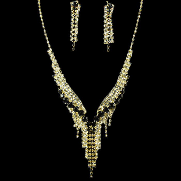 Leah Rhinestone Necklace Set