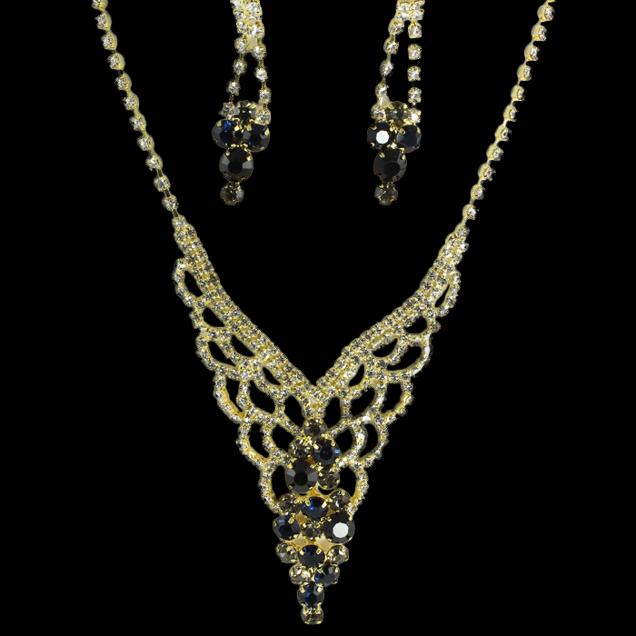 Willow Rhinestone Necklace Set