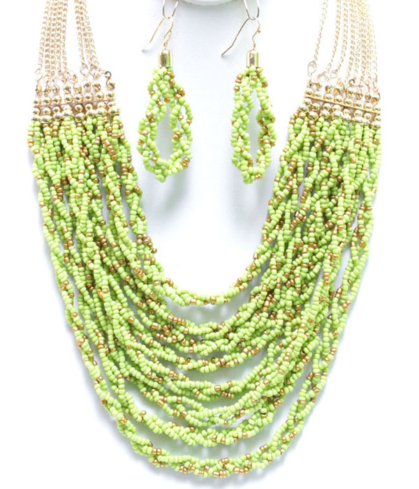 Julia Bead Necklace Set