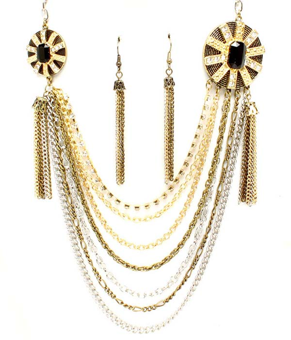 Bailey Multi Strand Necklace Set