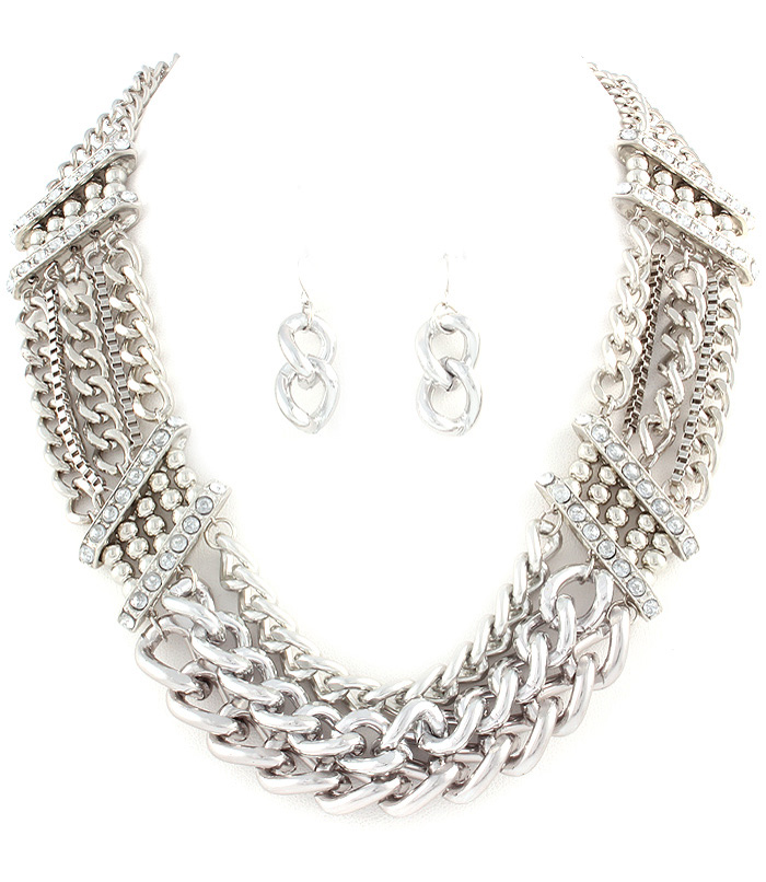Nell Chain Link Necklace Set