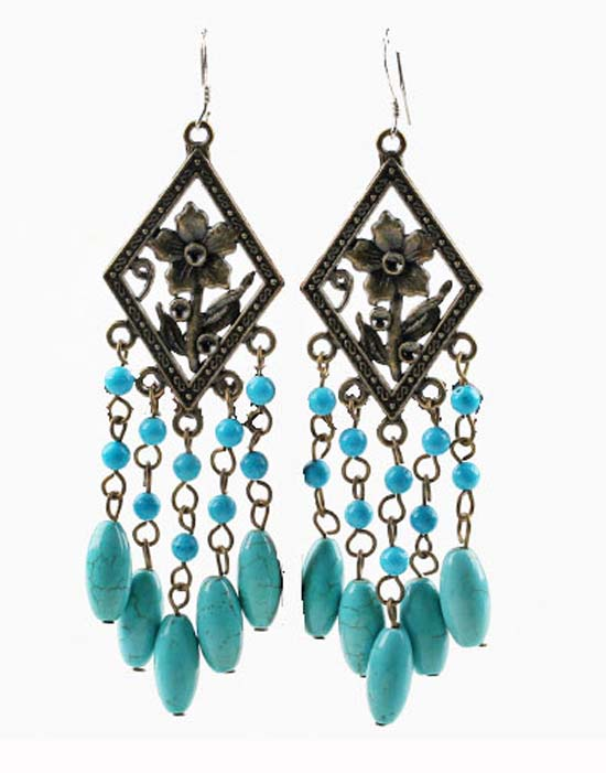 Sabrina Turquoise Earrings