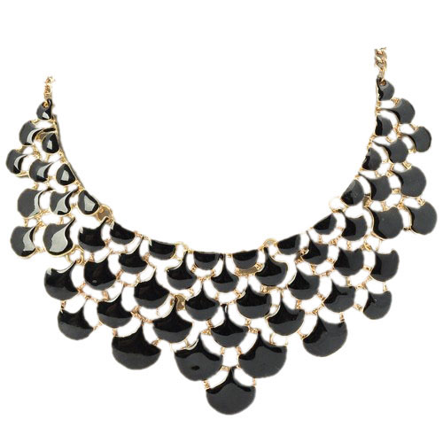 Yasmine Black Beauty Fashion Necklace 1