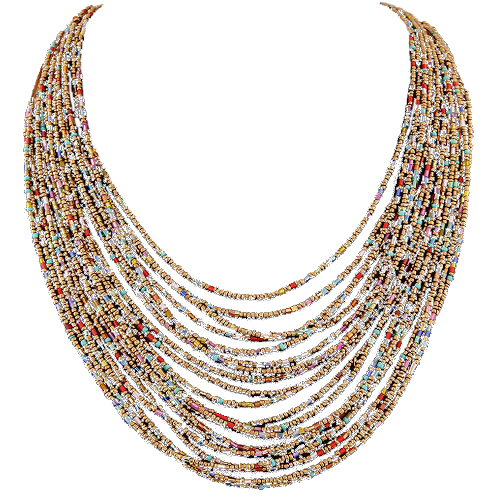Albinia Bead Necklace