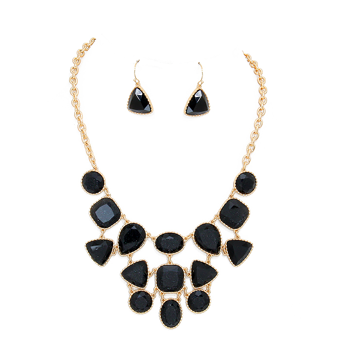 Meja Stone Necklace Set