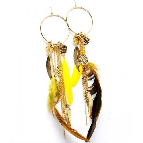EFH018 Feather Earrings.