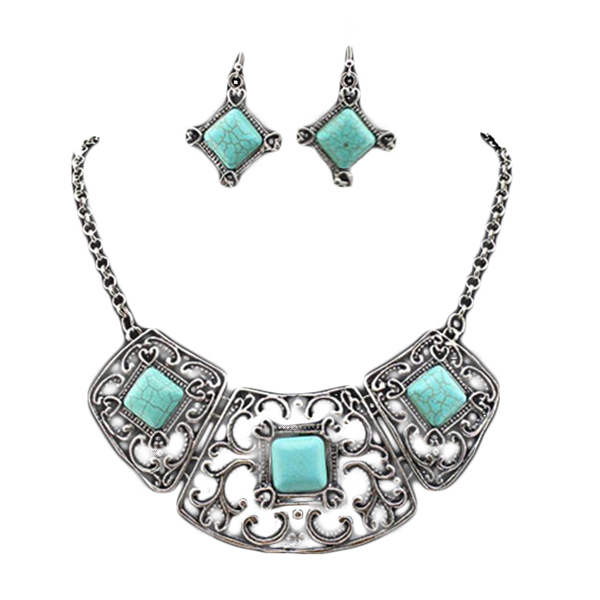 Shea Turquoise Necklace Set