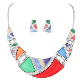 Celine Crescent Necklace Set