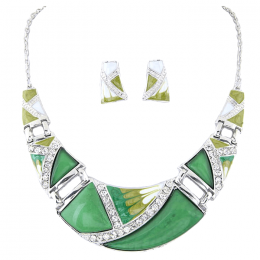 Ellinor Crescent Necklace Set.