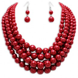 Jackie  Pearl Necklace Set