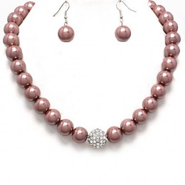Edith Faux Pearl Necklace Set.