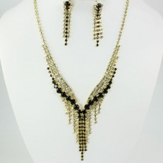 Leah Rhinestone Necklace Set II