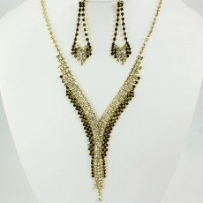 Cristina Rhinestone Necklace Set II