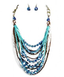 Laci Bead Necklace Set