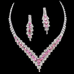 Cynthia Rhinestone Necklace Set