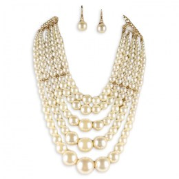 Luciana Pearl Necklace Set