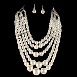 Adela Pearl Necklace Set II