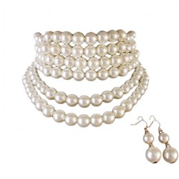 Evette Pearl Necklace Set