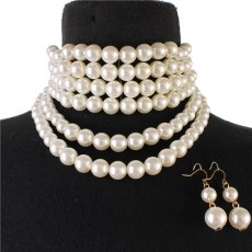Evette Pearl Necklace Set II