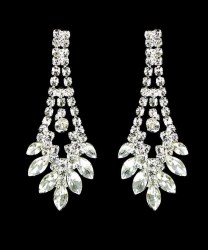 Fluffy Rhinestone Earrings
