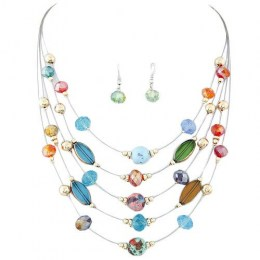 Alegra Bead Necklace Set
