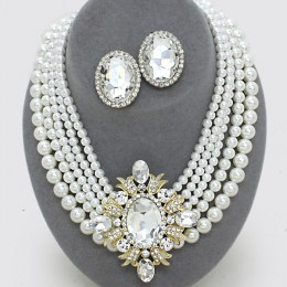 Arielle Faux Pearl Necklace Set II