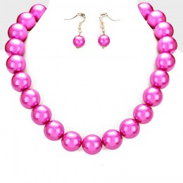 Tyra Faux Pearl Necklace Set