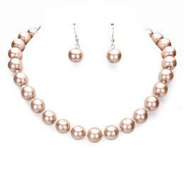 Geovana Faux Pearl Necklace Set 1