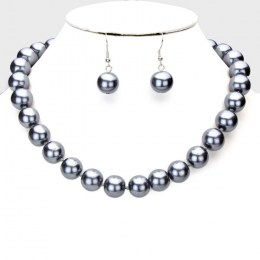 Vedetta Faux Pearl Necklace Set