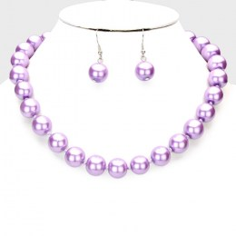 Anita Faux Pearl Necklace Set