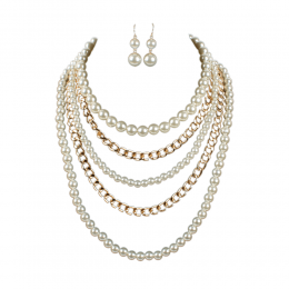 Saga Pearl Necklace Set.