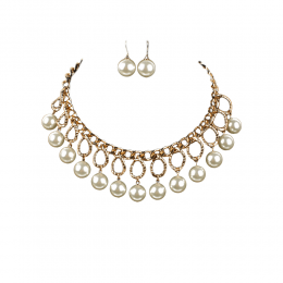 Felicia Pearl Necklace Set.