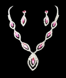 Cleo Rhinestone Necklace Set