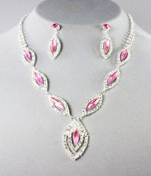 Cleo Rhinestone Necklace Set. II