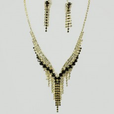 Leah Rhinestone Necklace Set III