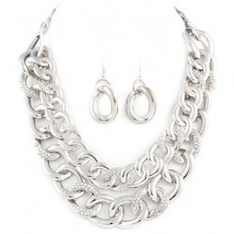 Azaria Chain Link Necklace Set.