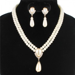 Chantrell Faux Pearl Necklace Set, II