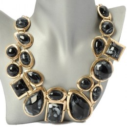 Juno Black Beauty Fashion Necklace 1