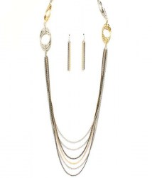 Melissa Multi Strand Necklace Set