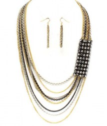 Kaye Multi Strand Necklace Set