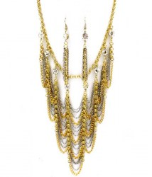 Sondra Bib Necklace Set